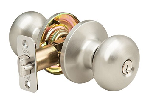 Yale Edge Sinclair Knob in Satin Nickel - Entry for sale  Delivered anywhere in USA