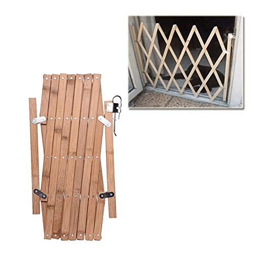 Dog Safety Gate Indoor Wood Expanding Fence Baby Protection Divider Pet Gate Guardrail Retractable for Doorway Stairs Kitchen