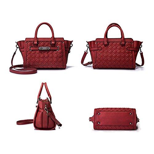 Sac à main tissé simple Sac à bandoulière rouge Sacs à main sac de conception tissée Ailes rouges Marchandises essentielles sortantes Grande capacité