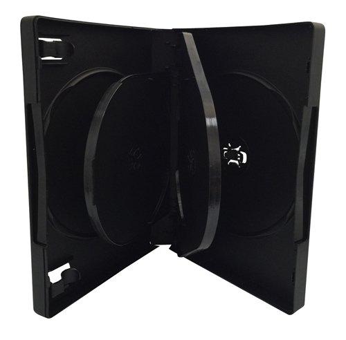 UPC 806479756888, Mediaxpo Brand 25 Black 6 Disc DVD Cases /w Patented M-Lock Hub