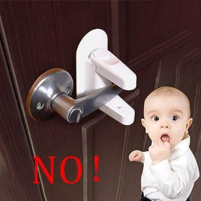 Door Lever Lock,Child Safety Doors Lock Handles Lock Door Stopper,Pack of 2, Child Socket Cover,Pack of 4