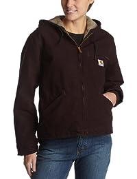 Carhartt Women's Sherpa Lined Sandstone Sierra Jacket WJ141