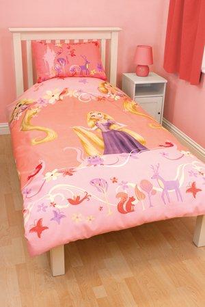 Disney Tangled Rapunzel Single Duvet Quilt Cover Disney: Amazon.co