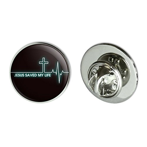 GRAPHICS & MORE Jesus Saved My Life EKG Heart Rate Pulse Religious Christian Metal 0.75