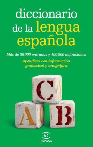 Descargar Libro Diccionario De La Lengua Española Bolsillo Espasa Calpe