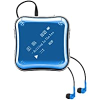 COOSA 8GB Portable MP3 Player with 0.96 OLED Screen, 360°Freely Rotatable Sport Clip, Music + FM Radio + Recording + Electronic Book (Blue)