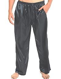 Del Rossa Men's Satin Pajama Pants, Long Pj Bottoms