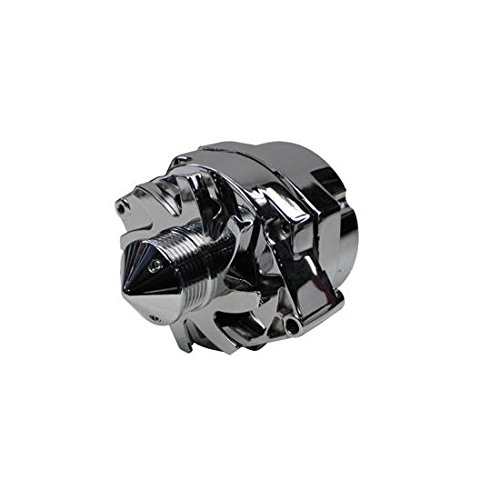 Tuff Stuff 7140ABULL6G Chrome 140 Amp 6-Groove Alternator for GM