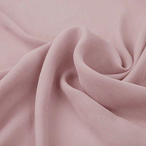 (Mauve Wool Dobby Hi Multi Chiffon Fabric by the Bolt - 10 Yard (Wholesale Price))