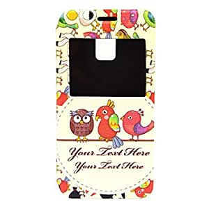 SHOUJIKE Samsung Galaxy S5 Mini compatible Graphic/Cartoon/Special Design Plastic/PU Leather Cases with Stand
