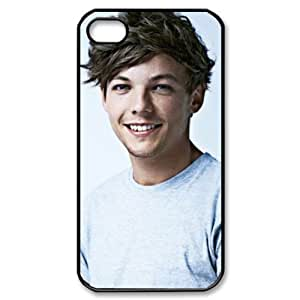 CTSLR Music & Singer Series Protective Hard Case Cover for iPhone 4 & 4S - 1 Pack - One Direction - Louis Tomlinson 14