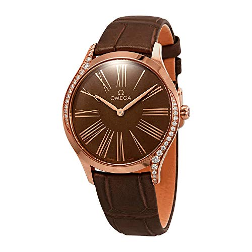 Omega De Ville Diamond Brown Dial Ladies Watch 428.58.36.60.13.001