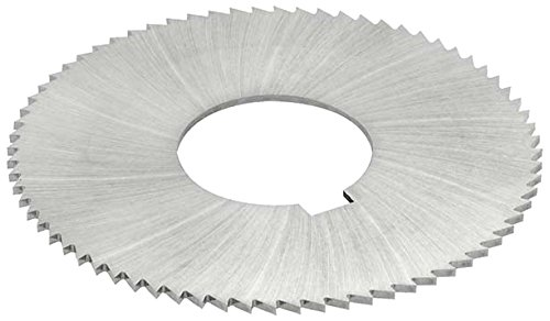 KEO Milling 14779 Screw Slotting Saw, 1470 Style, 0.072'' Width, 1'' Arbor Hole, 72 Teeth, 2-3/4'' Cutting Diameter, HSS, TiN Coating