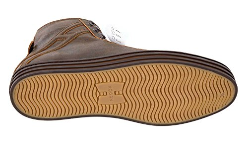 Hogan zapatos zapatillas de deporte largas hombres en piel nuevo rebel polacco o