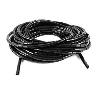 10Meter Long PE Polyethylene 10mm Spiral Cable Wire Wrap Tube Black ...