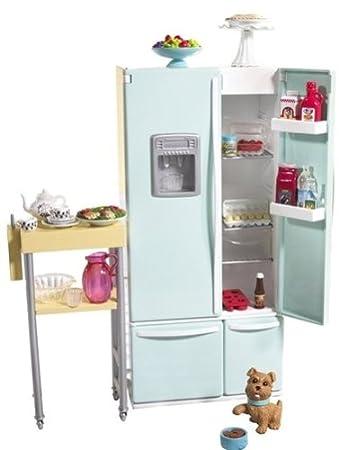Barbie Kühlschrank und Beistelltisch: Amazon.de: Spielzeug