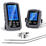 Acogedor Digital BBQ Meat Thermometer,Wireless Food Cooking Thermometer Dual Probe- With Timer Functions,Temperature Range Up to 230 Feet- for BBQ, Smoker, Grill, Oven