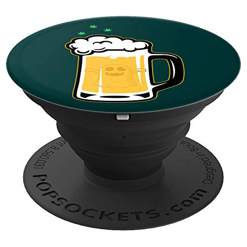Halloween Drinking Squad Ghost Beer Mug - Halloween Souvenir PopSockets Grip and Stand for Phones and Tablets -
