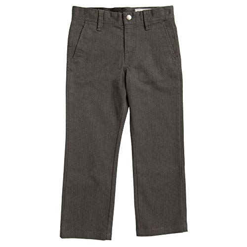 Volcom Little Boys' Toddler Frickin Modern Stretch Chino Pant, Charcoal Heather, 3T