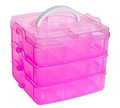 a2550fb64 Homies International, 3 layers, 18 Grids, transparent plastic Jewellery  Organizer Storage Compartment Box
