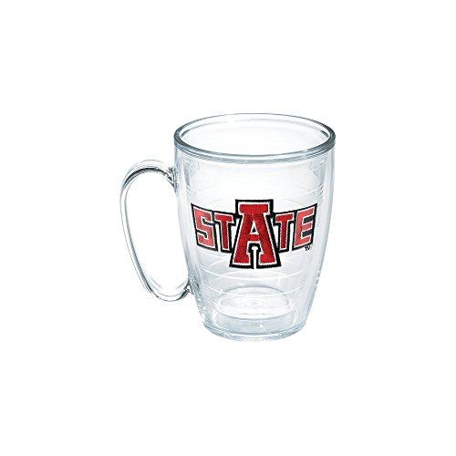 Tervis 1050051 Arkansas State University Emblem Individual Mug, 16 oz, Clear