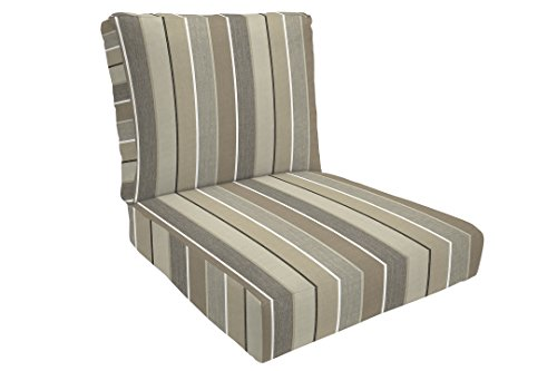 Milano Lounge - Eddie Bauer Home Deep Seating Lounge Double Piped, Medium, Milano Char