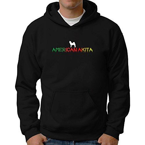 Eddany Dripping American Akita Hoodie (Akita Hooded Sweatshirt)