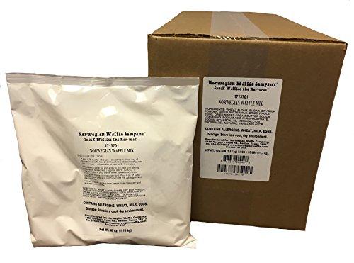 Norwegian Waffle Mix – Case of Ten, 40oz. bags (25 lbs. total) by Norwegian Waffle Company
