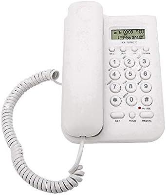ASHATA Telefono Fijo FSK/DTMF,Telefono con Cable Mesa para Casa ...