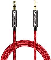 linkinperk AUX Cable 3,5mm nailon Cable de audio macho a macho Cable AUX Cable auxiliar para estéreo de coches, iPod, , Beats, ordenador, MP3 jugadores y más(1M)