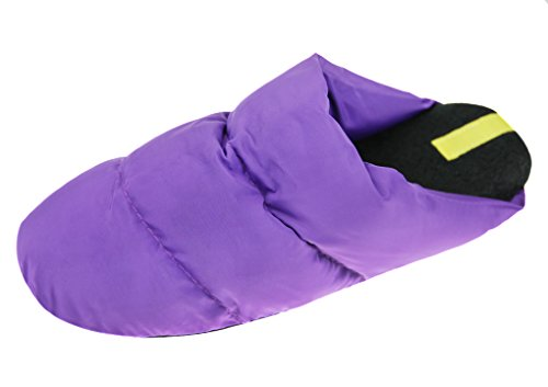 Couple Slippers, Women Men Winter Soft Warm Booties Waterproof Quilted Down Slippers Anti-skid Slip on Scuff Footwear Shoes Purple