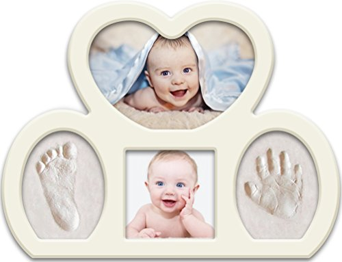 Newborn Babyprints Kit for Boys and Girls. Great Baby Shower Favor and Registry Idea. Baby Footprint and Handprint Photo Frame Keepsake. (Dog Print Gifts Set)