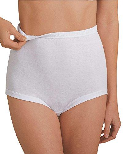National Unpinchable Cotton Panty, White, 9, (Cotton Elastic Leg)