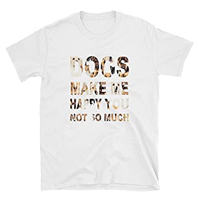 AZ-Stores Dogs Make Me Happy You Not So Much, Men Printing Tees Shirt Short Sleeve