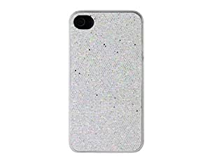 Shining Plastic Case for iPhone 4S (Silver)
