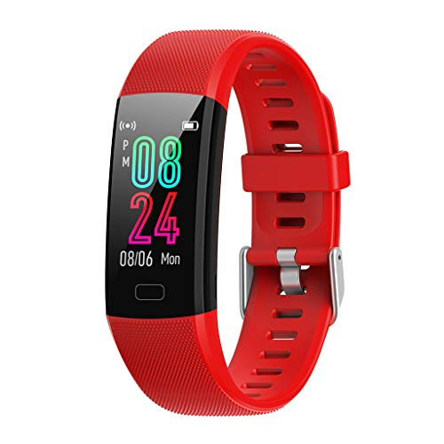 Chenway Smart Watch with Blood Pressure Monitor, Activity Tracker Watch with Heart Rate Monitor, Waterproof Fitness Pedometer Watch for Women and Men (Red)