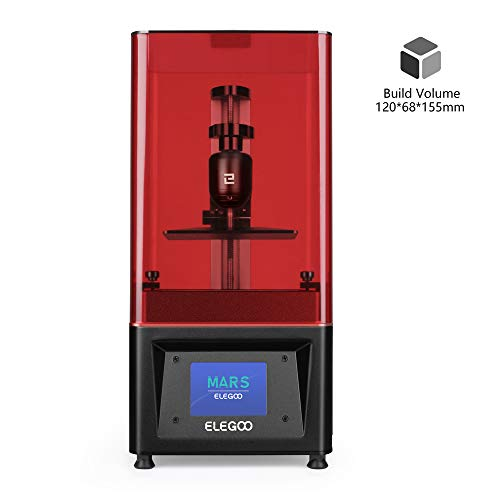 ELEGOO Mars UV Photocuring LCD 3D Printer with 3.5'' Smart Touch Color Screen Off-line Print 4.72