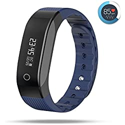 Fitness Tracker,URBST Wireless Activity Trackers Smart Bracelet with Heart Rate Monitors for IOS Android Activity Watch Wristband.(BLUE)