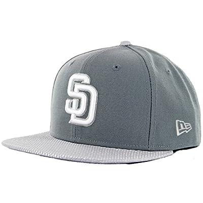 MLB New Era 9Fifty Flash Vize San Diego Padres Snapback Hat Cap Flat Bill Gray