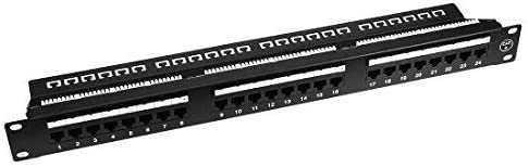 568A // B Compatible 24-Port Cat6 Connection Panel NA 19 inch Type 110 UTP unshielded