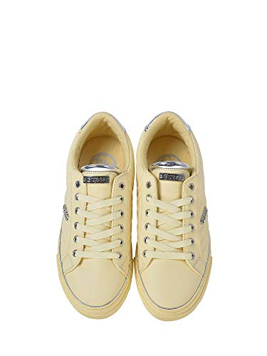 Chaussures Jaune Toile Groovie Xxbux White Guess Lady Basses ymNvn8wO0