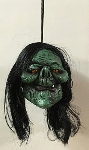 Gomangos Fashion Shrunken Monster Head Prop Different Styles Skull Witch Zombie Devil (Head Witch)
