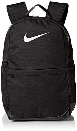 Nike Kids' Brasilia Backpack, Kids' Backpack with Durable Design & Secure Storage, Black/Black/White