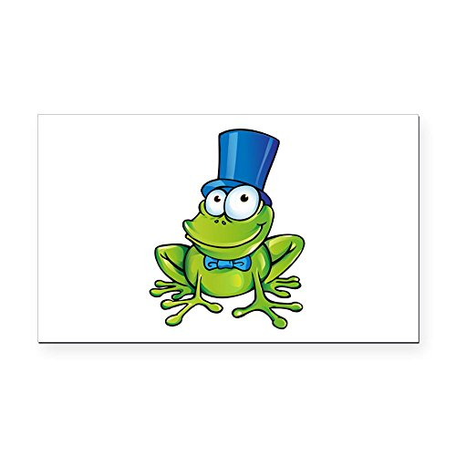 Rectangle Car Magnet Frog with Top Hat