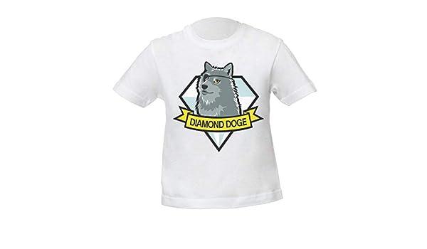 Diamond Doge Niños Unisexo Niño Niña Camiseta Blanco Kids Unisex Boys Girls White T-Shirt Tshirt T Shirt: Amazon.es: Ropa y accesorios