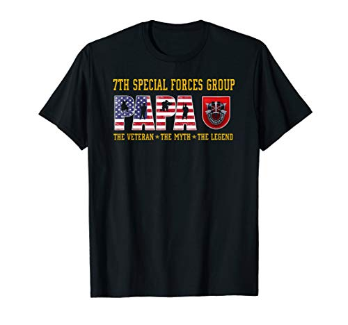 7th Special Forces Group Papa The Veteran The Legend T-Shirt