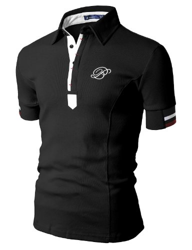 Doublju Mens Casual Short Sleeve Polo T-shirt