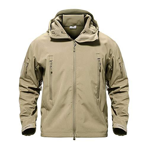 Stardust-shine-outerwear Army Camouflage Men Jacket Coat Winter Waterproof Jackets Windbreaker Hunt Clothes,Khaki,XXL