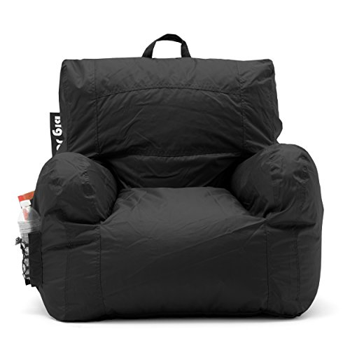 Big Joe 645602 Dorm Bean Bag Chair Stretch Limo Black