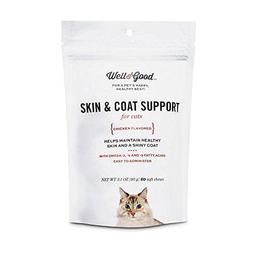 Well & Good Skin & Coat Support Cat Chews, 3.1 oz.
